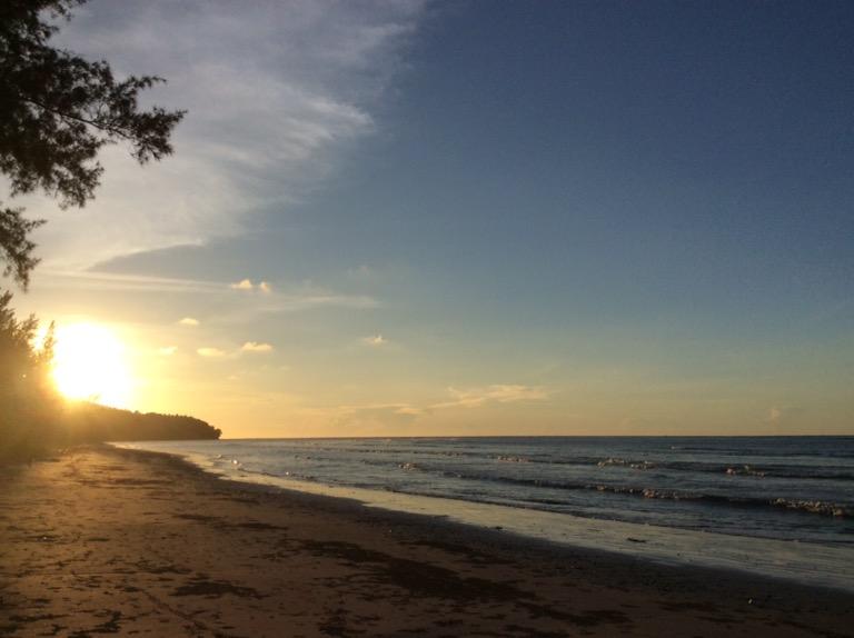 マレーシアの海